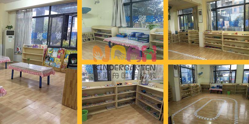 幼儿园编织手工制作的货架